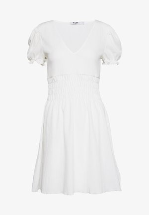 PUFF SLEEVE MINI DRESS - Freizeitkleid - white
