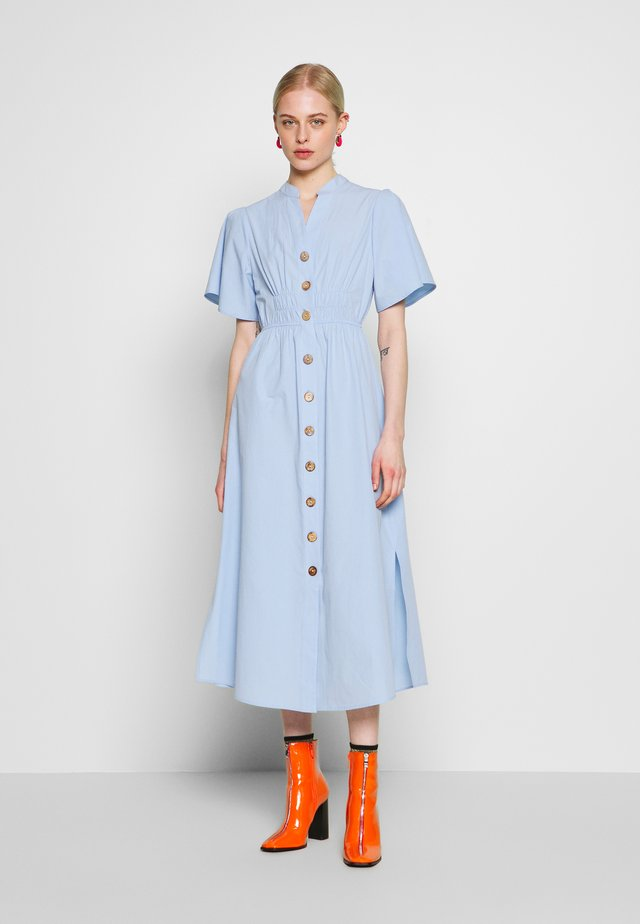 CINCHED WAIST DRESS - Day dress - blue