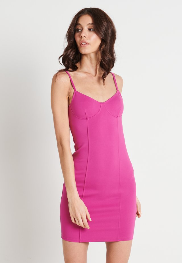 ZALANDO X NA-KD SEAM DETAIL MINI DRESS - Juhlamekko - cerise