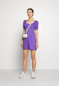 NA-KD - BUST PUFF SLEEVE MINI DRESS - Day dress - purple - 1