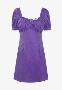 NA-KD - BUST PUFF SLEEVE MINI DRESS - Day dress - purple - 3