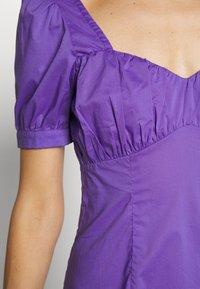NA-KD - BUST PUFF SLEEVE MINI DRESS - Day dress - purple - 4