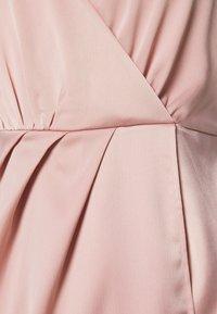 NA-KD - ZALANDO X NA-KD FRONT SLIT DRAPED DRESS - Sukienka koktajlowa - dusty pink - 7