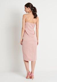 NA-KD - ZALANDO X NA-KD FRONT SLIT DRAPED DRESS - Sukienka koktajlowa - dusty pink - 3