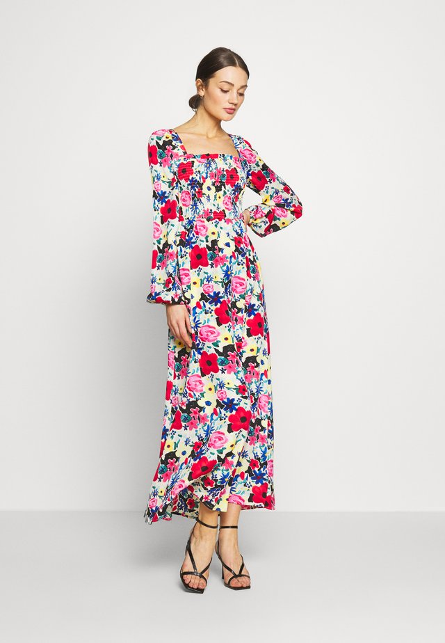 SQUARE NECK MAXI DRESS - Vapaa-ajan mekko - multi-coloured