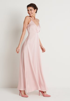 V-NECK FLOWY DRESS - Vestito lungo - dusty pink