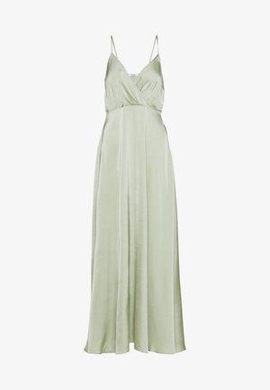 V-NECK FLOWY DRESS - Maxikjole - dusty green