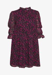 NA-KD - MINI DRESS - Juhlamekko - black/pink - 4