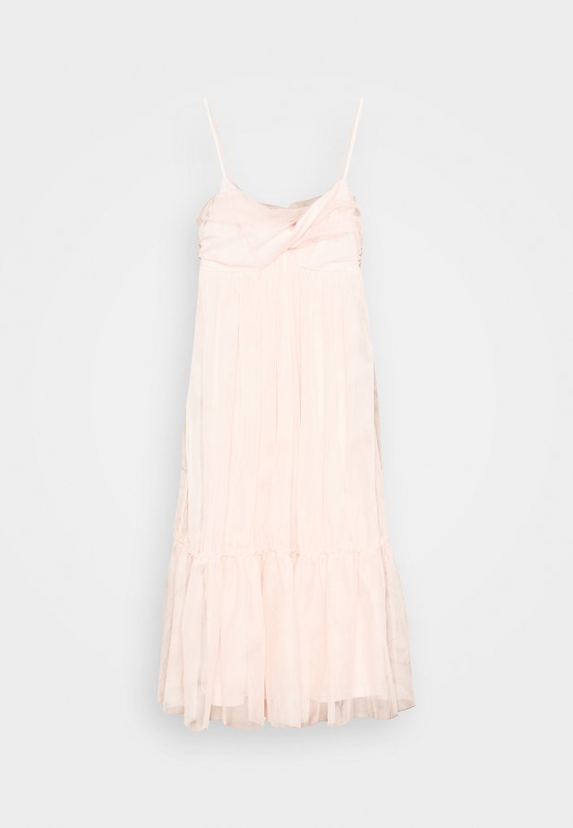ZALANDO X NA-KD VOLUME TULLE DRESS - Juhlamekko - dusty pink