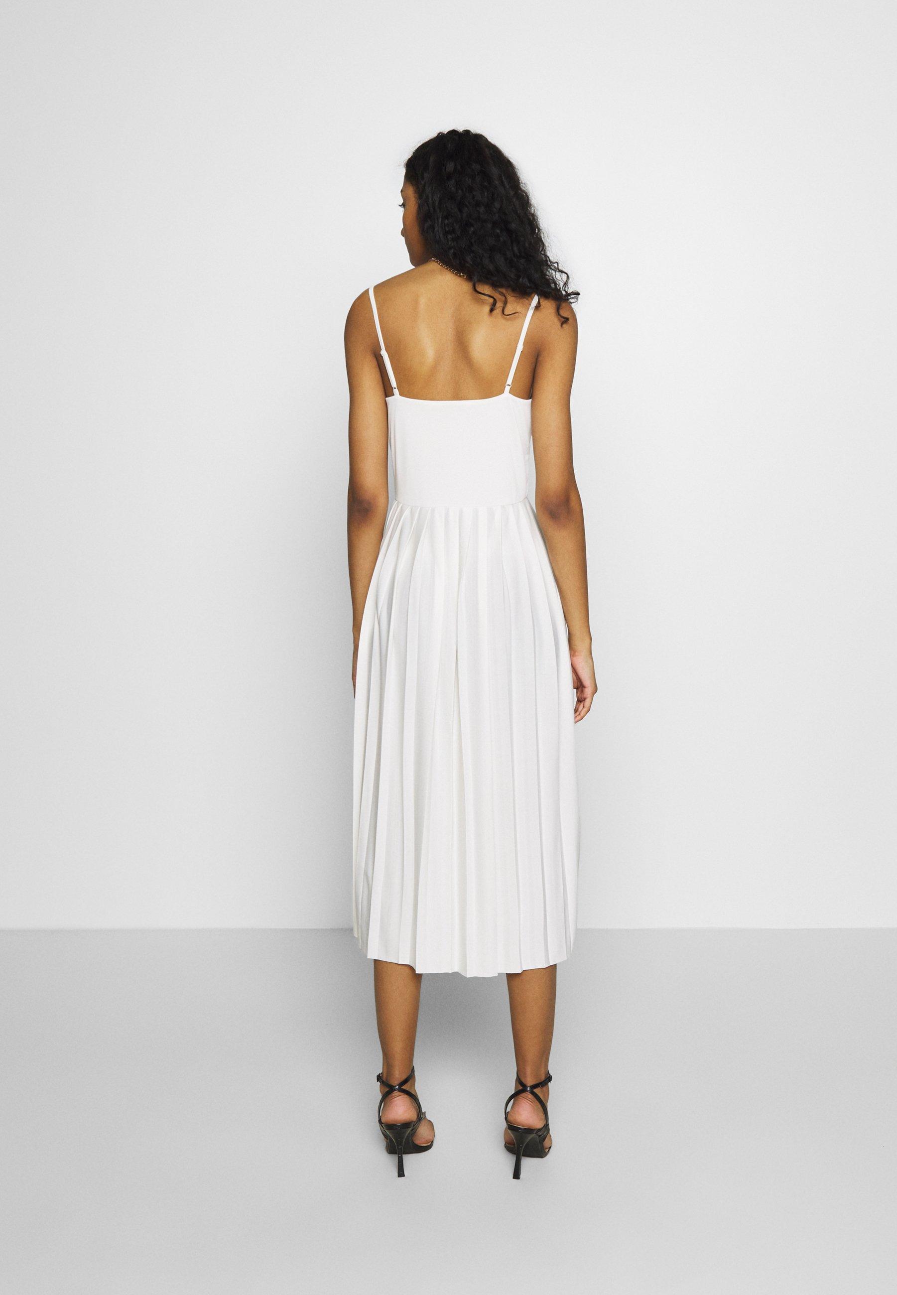 NA-KD PLEATED STRAP DRESS - Vestito estivo - white