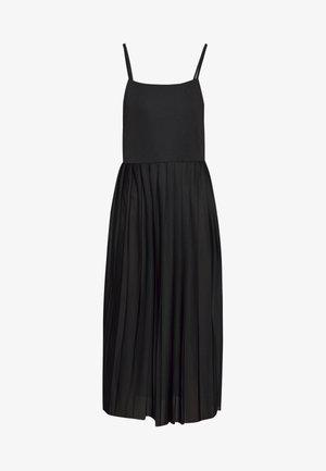 PLEATED STRAP DRESS - Korte jurk - black