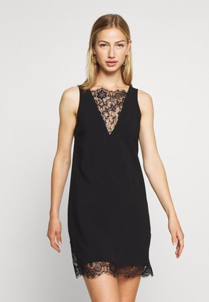 V-NECK DETAIL DRESS - Robe d'été - black