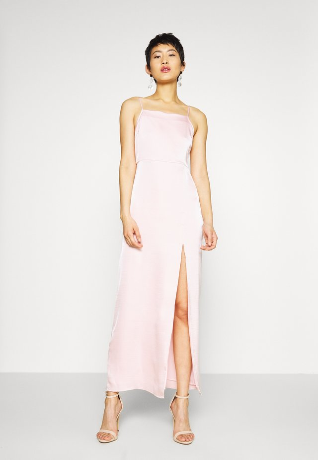 HIGH SLIT DRESS - Maksimekko - dusty pink