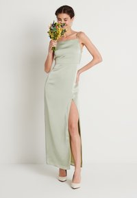 NA-KD - HIGH SLIT DRESS - Maxiklänning - dusty green - 1