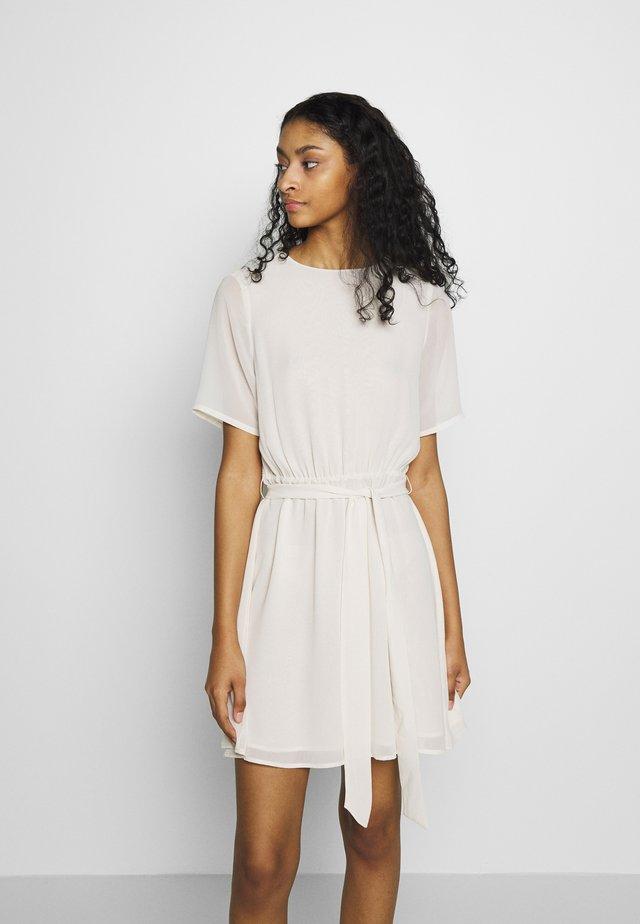 BELTED DRESS - Korte jurk - off white