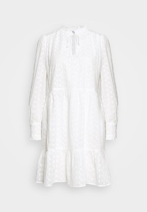 FLOWER A-SHAPE DRESS - Kjole - white