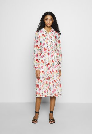 RUFFLED MIDI DRESS - Skjortekjole - multicoloured