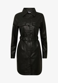 NA-KD - SOFT BELTED MINI DRESS - Denní šaty - black - 3