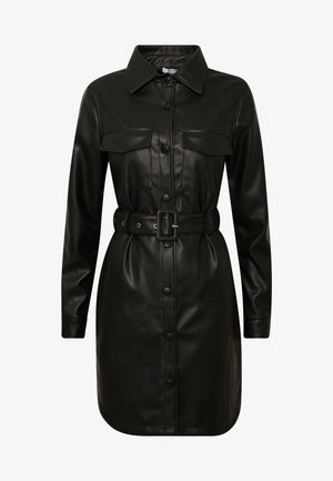SOFT BELTED MINI DRESS - Vardagsklänning - black