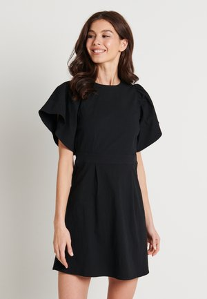 SLEEVE DETAIL DRESS - Vapaa-ajan mekko - black