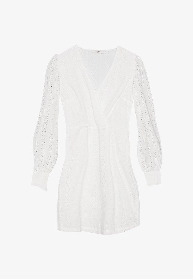 CROCHET DRESS - Korte jurk - white