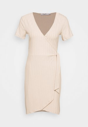 WRAP DRESS - Etuikleid - beige