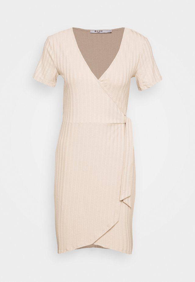 WRAP DRESS - Kotelomekko - beige
