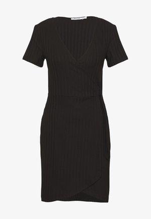 WRAP DRESS - Shift dress - black