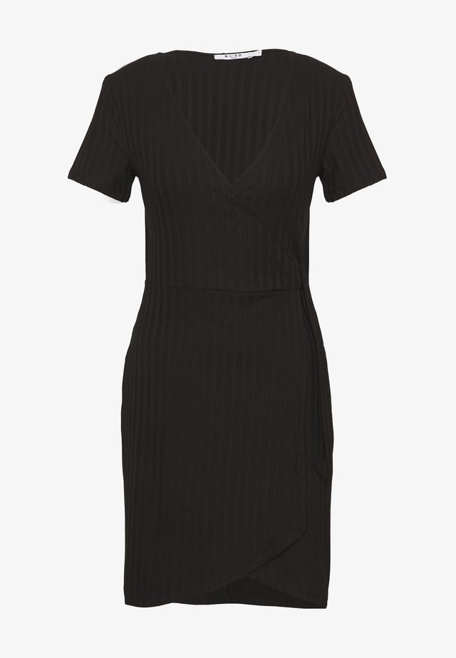 WRAP DRESS - Kotelomekko - black