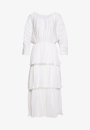 OPEN BACK PLEATED - Maxi dress - white