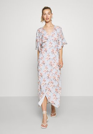 WRAP TIE DRESS - Korte jurk - light blue
