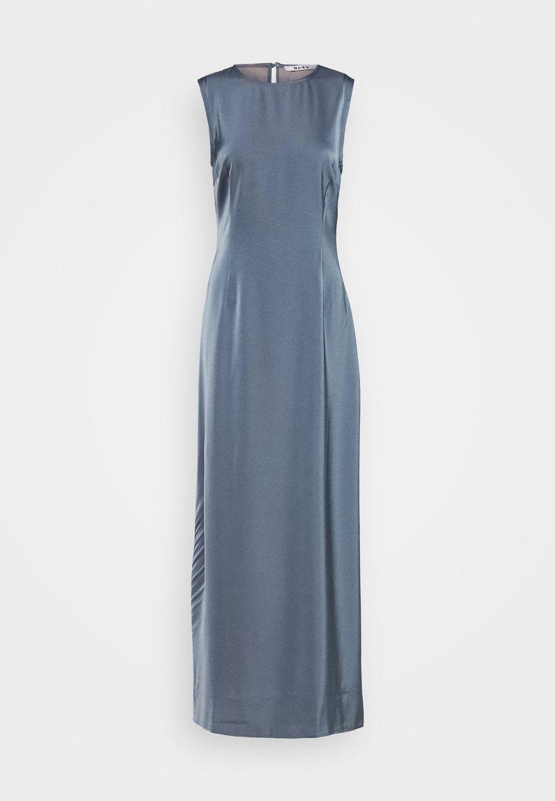 NA-KD - BACK DETAIL MAXI DRESS - Iltapuku - stone blue