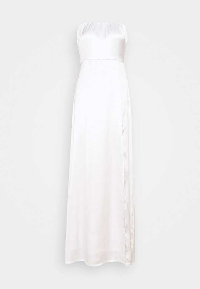 OFF SHOULDER SLIT DRESS - Juhlamekko - white