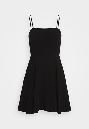 PAMELA REIF X NA-KD FLOWY MINI DRESS - Day dress - black