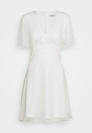 MARKED WAIST MINI DRESS - Vapaa-ajan mekko - white