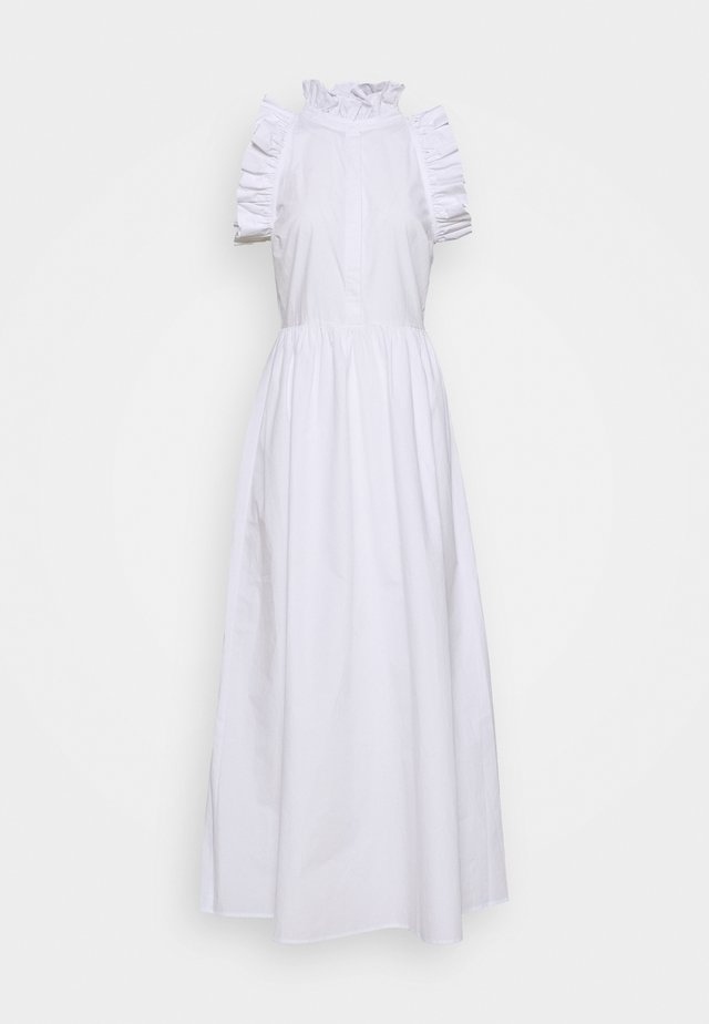 HIGH NECK DETAILED DRESS - Juhlamekko - white