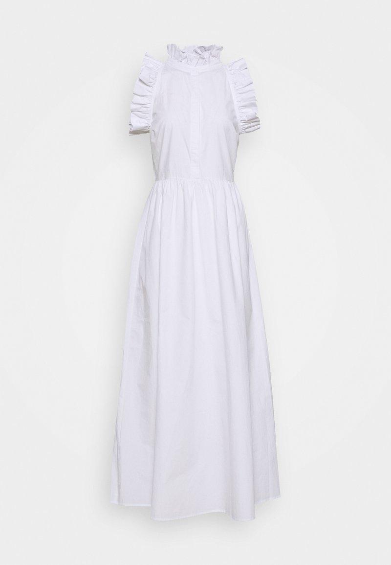 NA-KD - HIGH NECK DETAILED DRESS - Koktejlové šaty/ šaty na párty - white