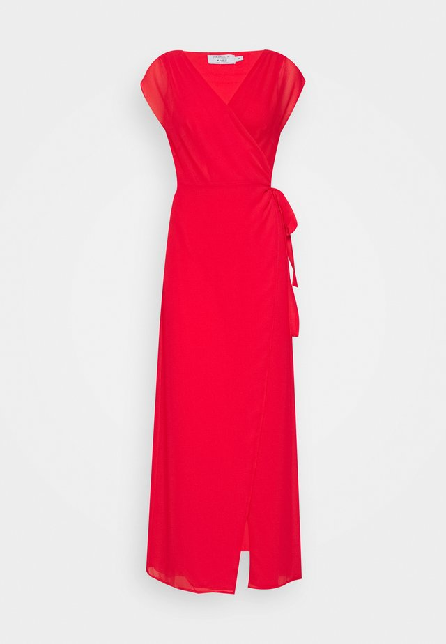 PAMELA REIF X NA-KD OVERLAPPED DRESS - Maxi šaty - red