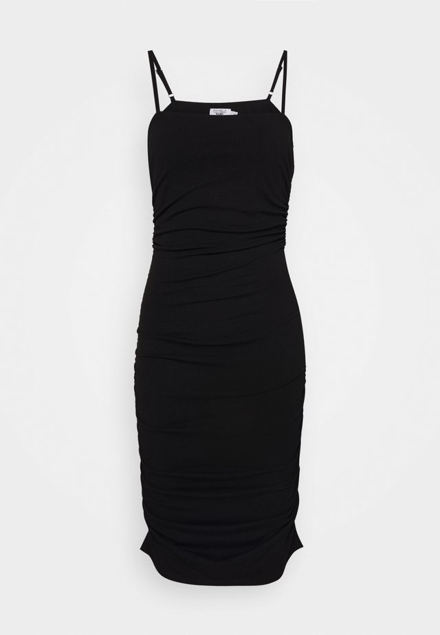 PAMELA REIF X NA-KD THIN STRAP DRESS - Juhlamekko - black