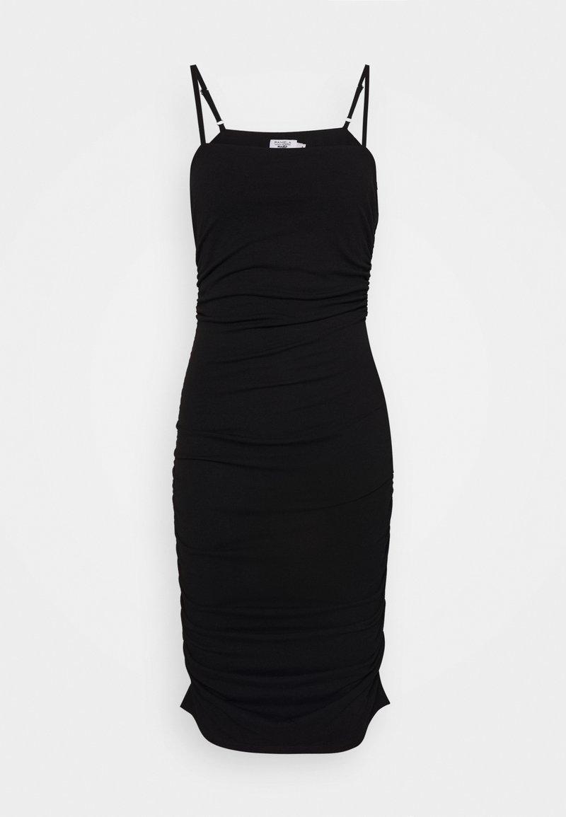 NA-KD - PAMELA REIF X NA-KD THIN STRAP DRESS - Sukienka koktajlowa - black