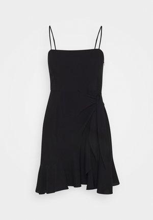 PAMELA REIF KNOT DETAIL MINI DRESS - Day dress - black
