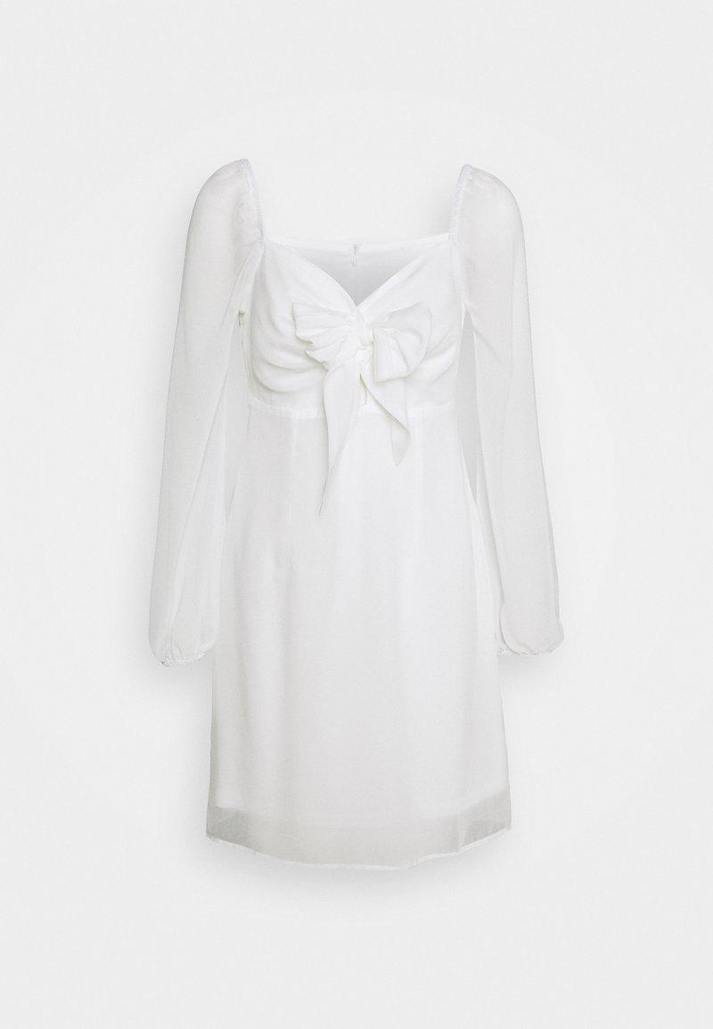NA-KD - TIE FORNT DETAIL DRESS - Vestido informal - white