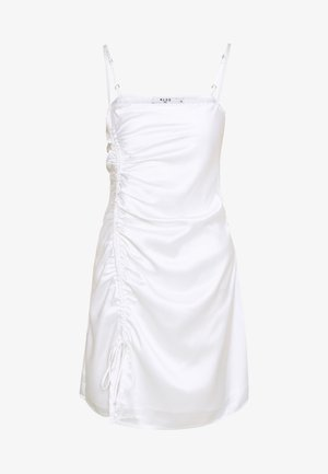 DRAWSTRING DRESS - Cocktailjurk - white