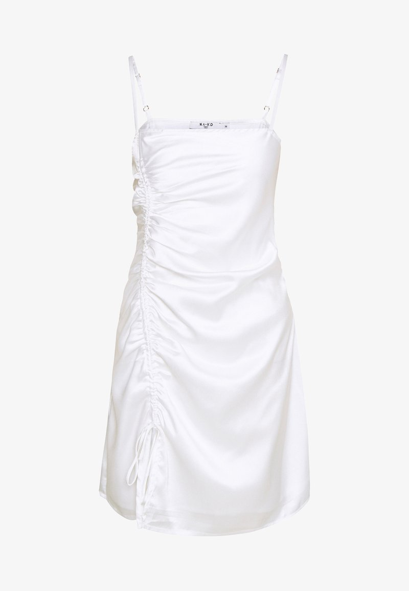 NA-KD - DRAWSTRING DRESS - Cocktailklänning - white