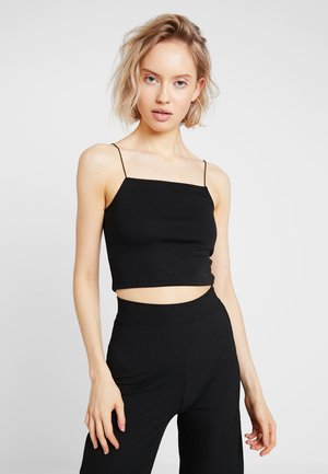 JULIAWIENIAWA CROPPED STRAP SINGLET - Top - black