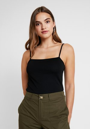 CROPPED SINGLET - Top - black