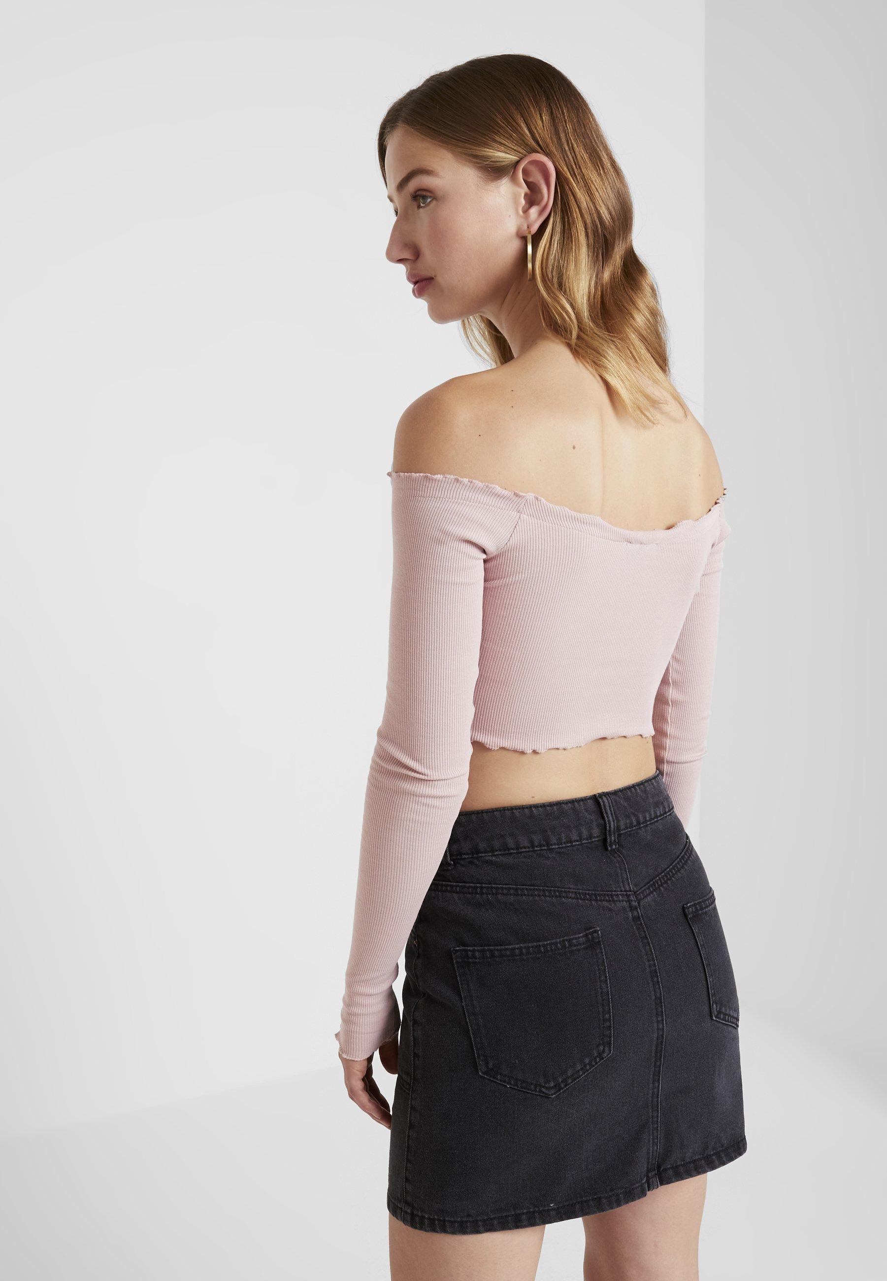 Na Talisa kd Sleeve CropT À Manches shirt Longues Pink Long 1JFcTlK