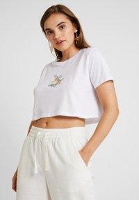 NA-KD - CUPID LOVE TEE - Print T-shirt - white - 0