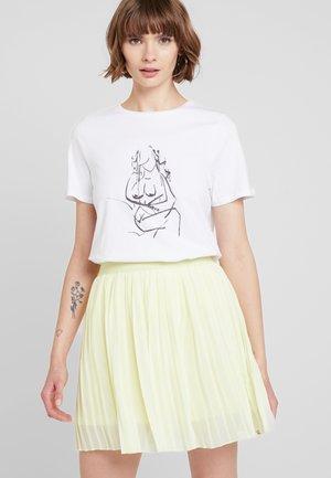 HAND DRAWN - T-shirts med print - optical white