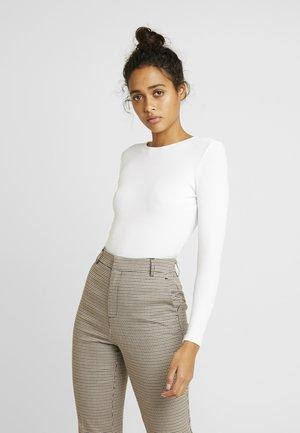 OPEN BACK BODYSUIT - T-shirt à manches longues - white